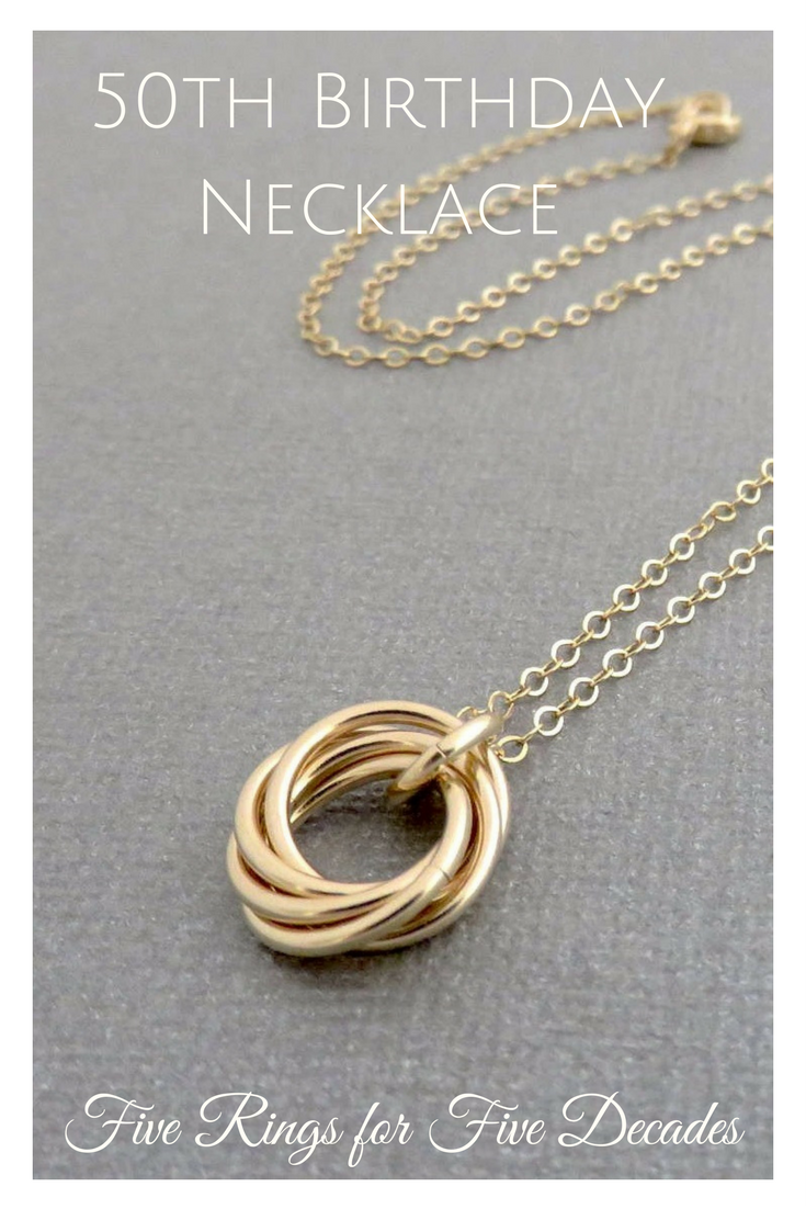 50th Birthday Gift For Women 14k Gold Filled Necklace Handmade