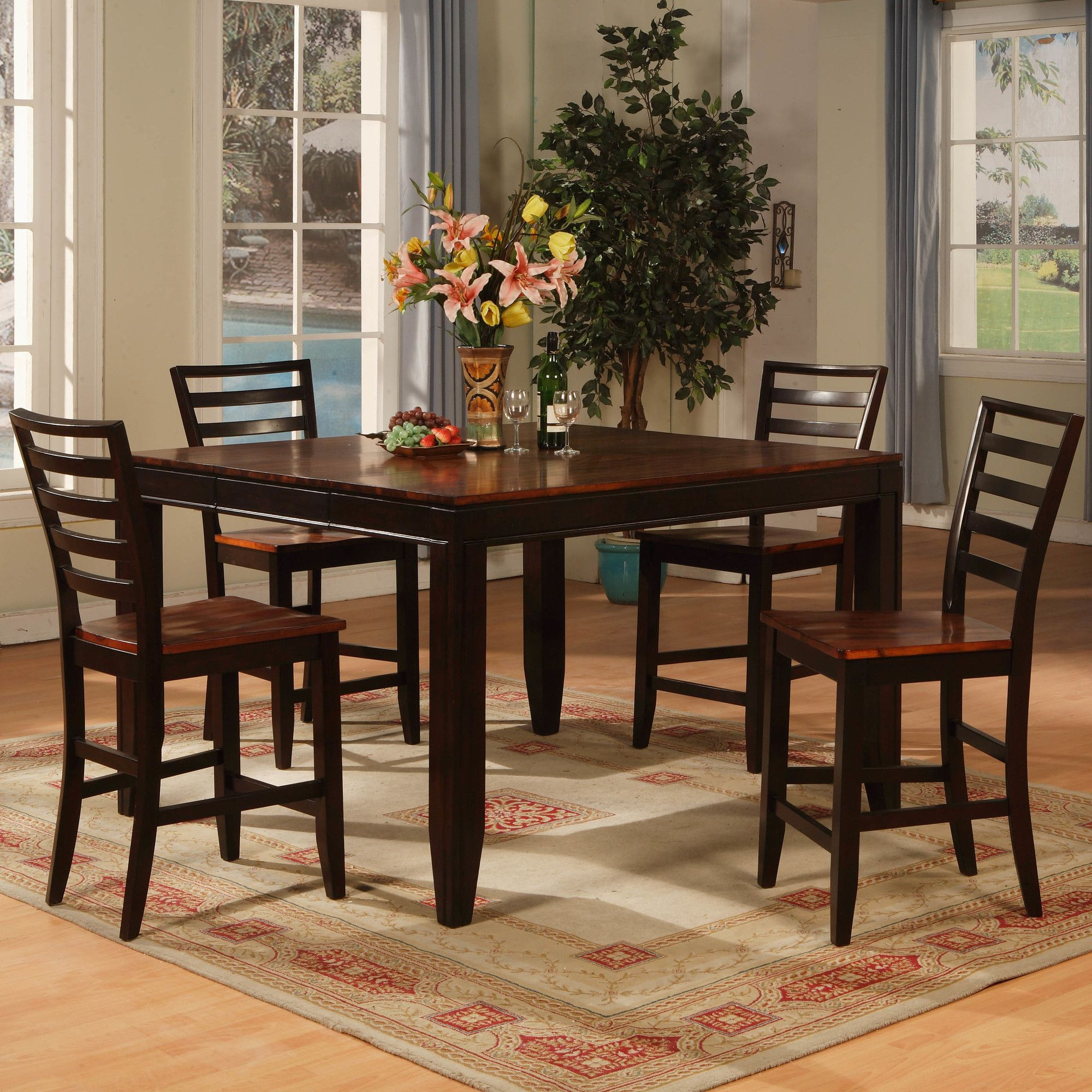 Counter Height Butterfly Leaf Dining Table Extendable Dining Table Solid Wood Dining Chairs Counter Height Dining Table