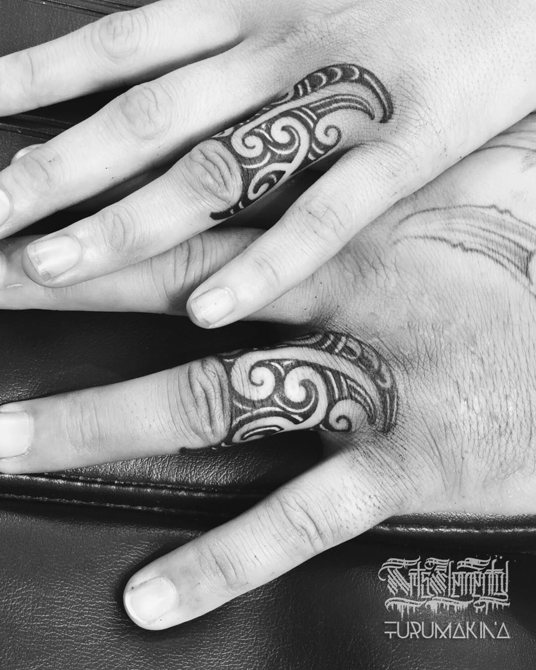 Maori Ring Tattoo: Image May Contain: One Or More People, Ring And Closeup
