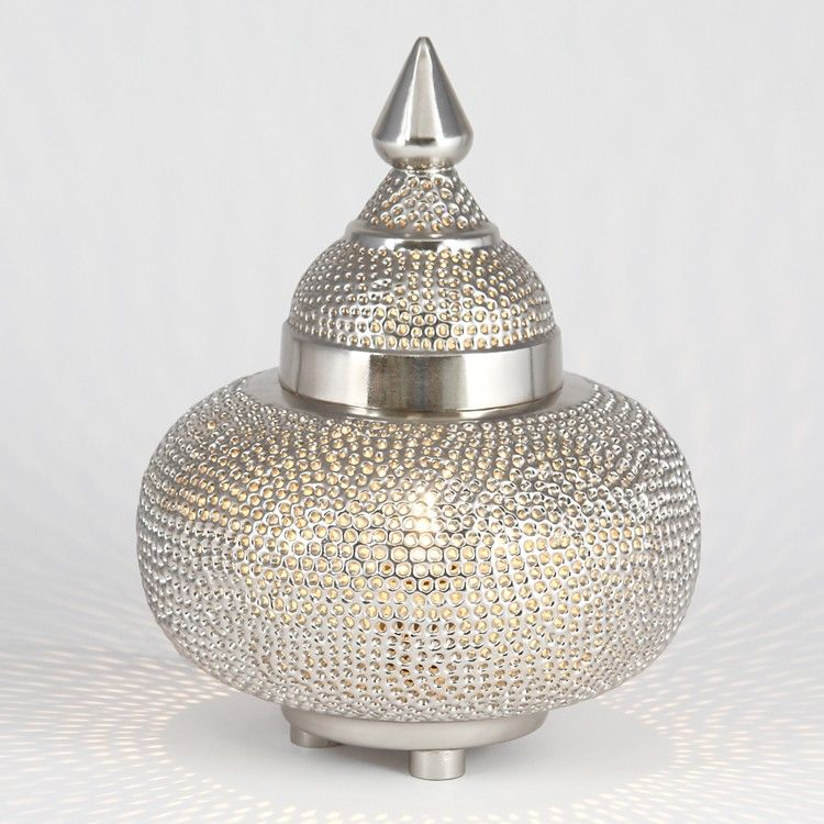 Moroccan Style Table Lamp Desk Amp Table Lamps Lighting Moroccan Table Lamp Silver Lanterns