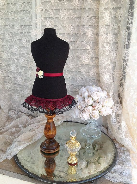 Mannequin Dress Form Display Jewelry Stand Fabric Mini Bust