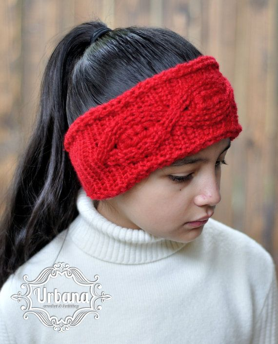 CROCHET HEADBAND PATTERN - The Ruby Headband, Crochet Head warmer ...