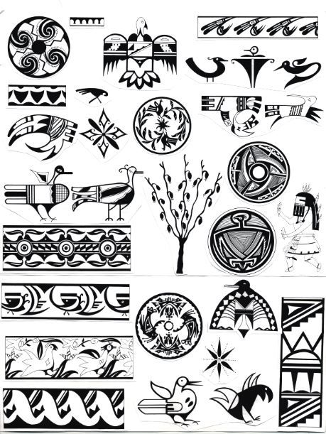 Native American Indian Symbols And Designs Clipart Library