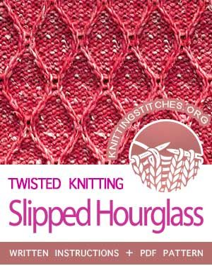 Slipped Hourglass Punto Y Seguido Knitting Pinterest
