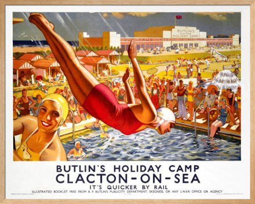 Butlins Holiday Camp, Clacton-on-Sea Art Print by J Greenup at King & McGaw