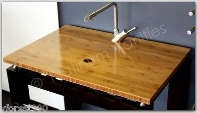 "Bamboo 21"" Long x 21"" Wood Bathroom Vanity Countertop for ..."