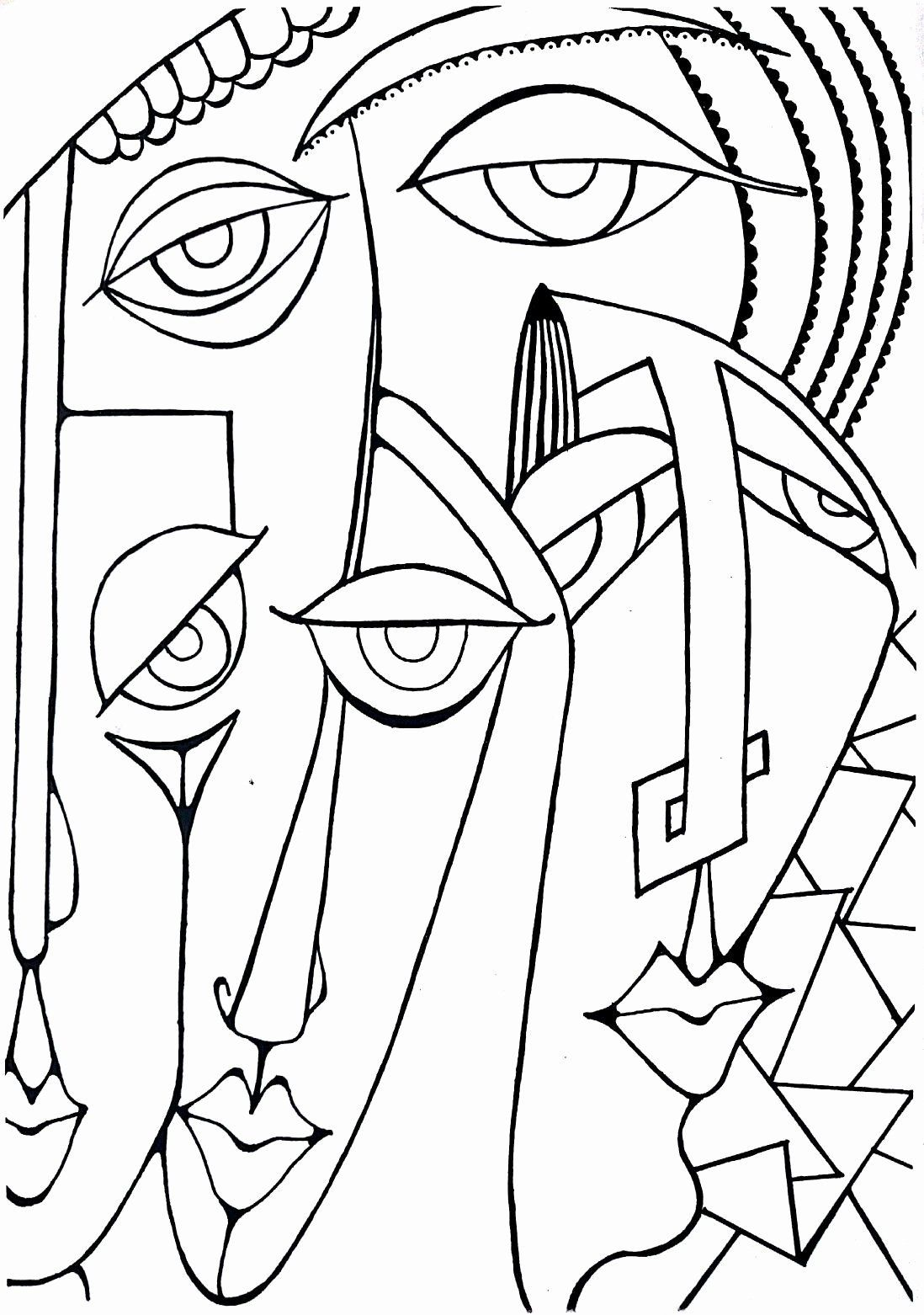 Picasso Coloring Pages Printable Unique Pin By Ali Ozkan Sevsin On Boyama Sayfalari In 2020 Abstract Art Painting Picasso Art Cubism Art