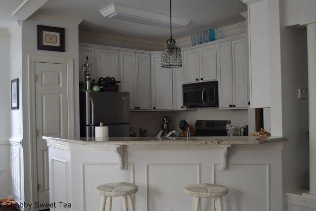 Annie Sloan Chalk Paint (pure white) kitchen cabinets ASCP