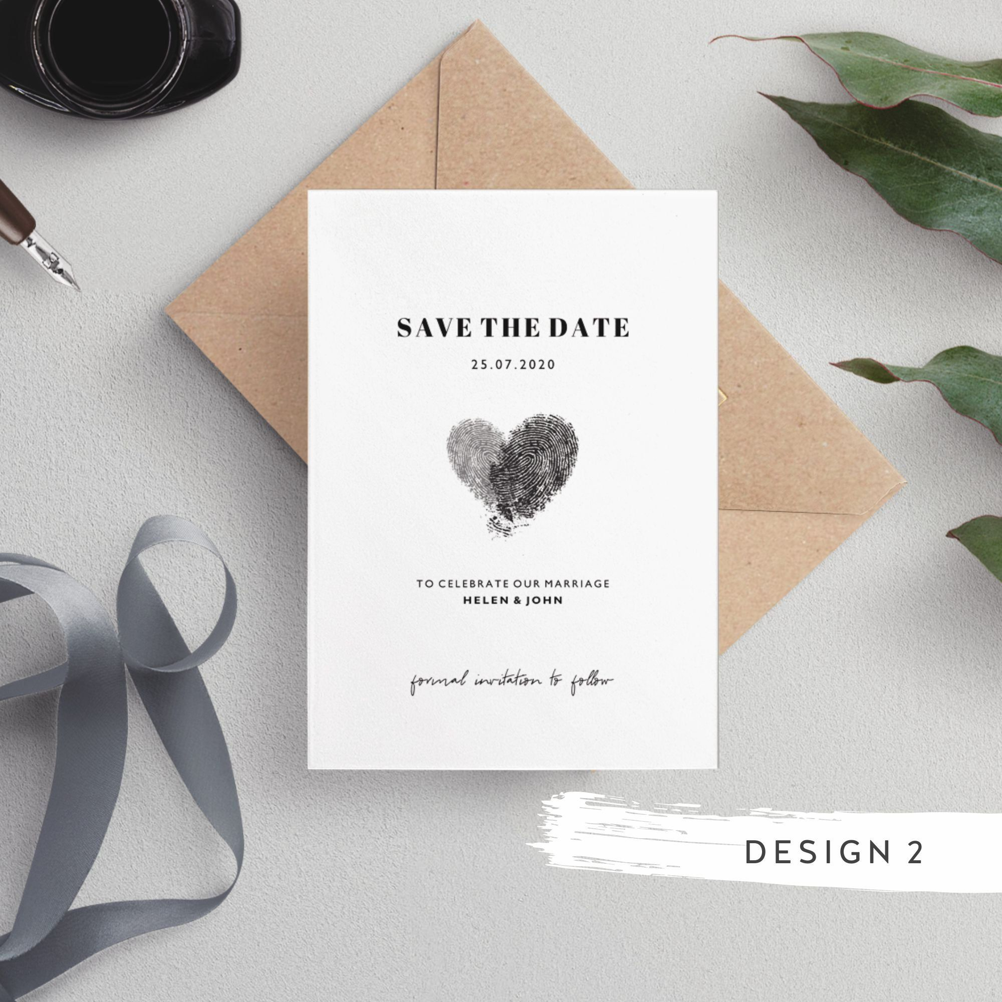 Simple Save The Date Rustic Save The Date Personalised Save The Dates Save The Date Invite Thumb Print Save The Date Rustic 081 Typography Save The Dates Rustic Save The Dates