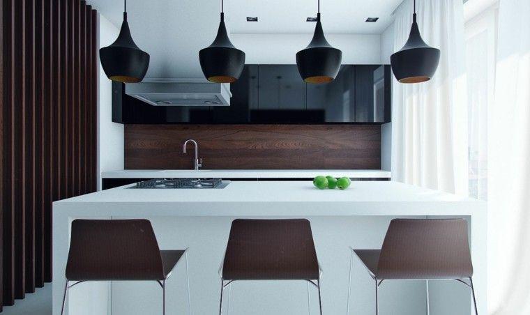 Diseño de cocinas modernas - 100 ejemplos geniales | Islas de cocina ...