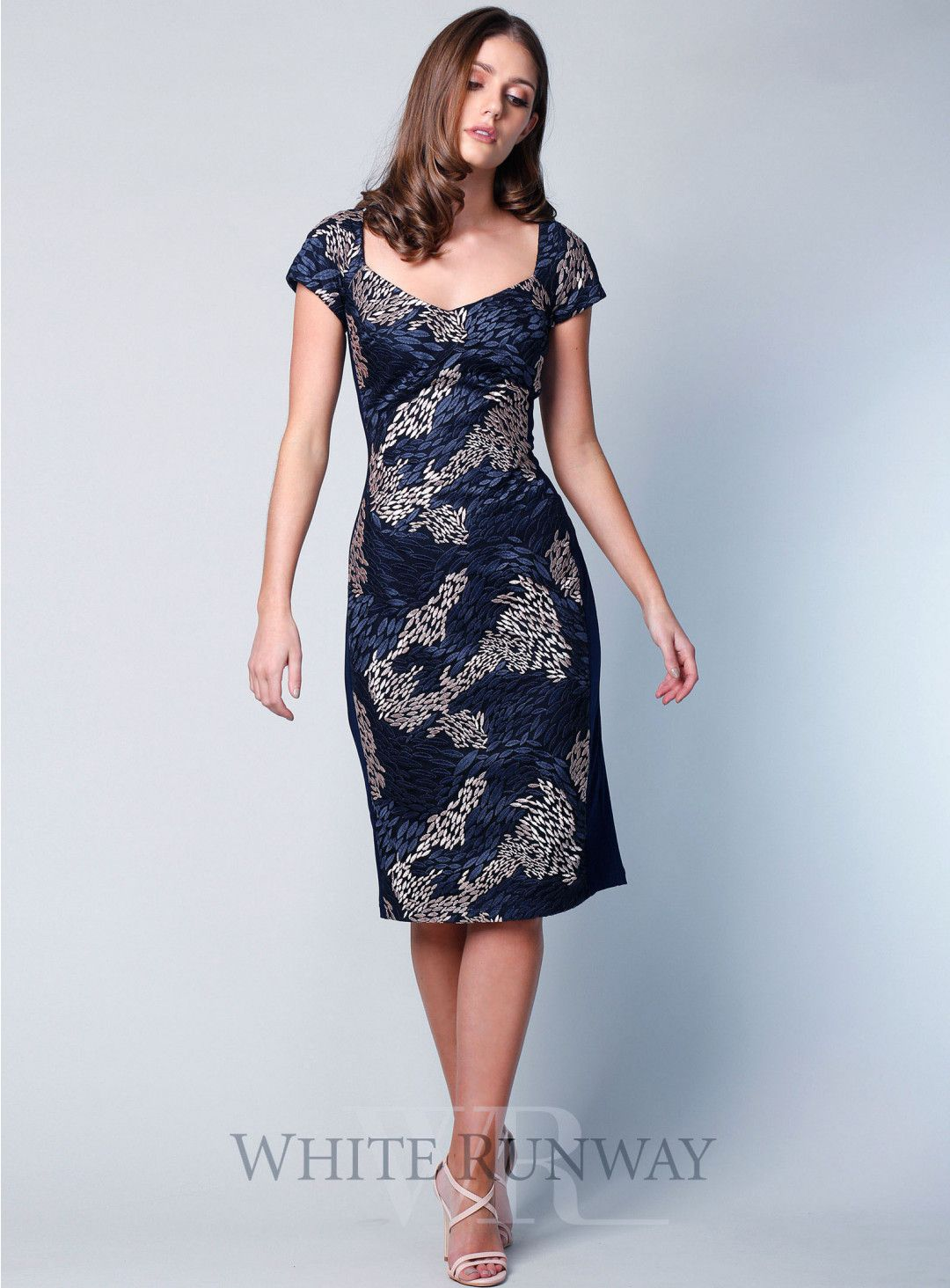 Victoria dress a lovely midi length dress by jesse harper a soft v