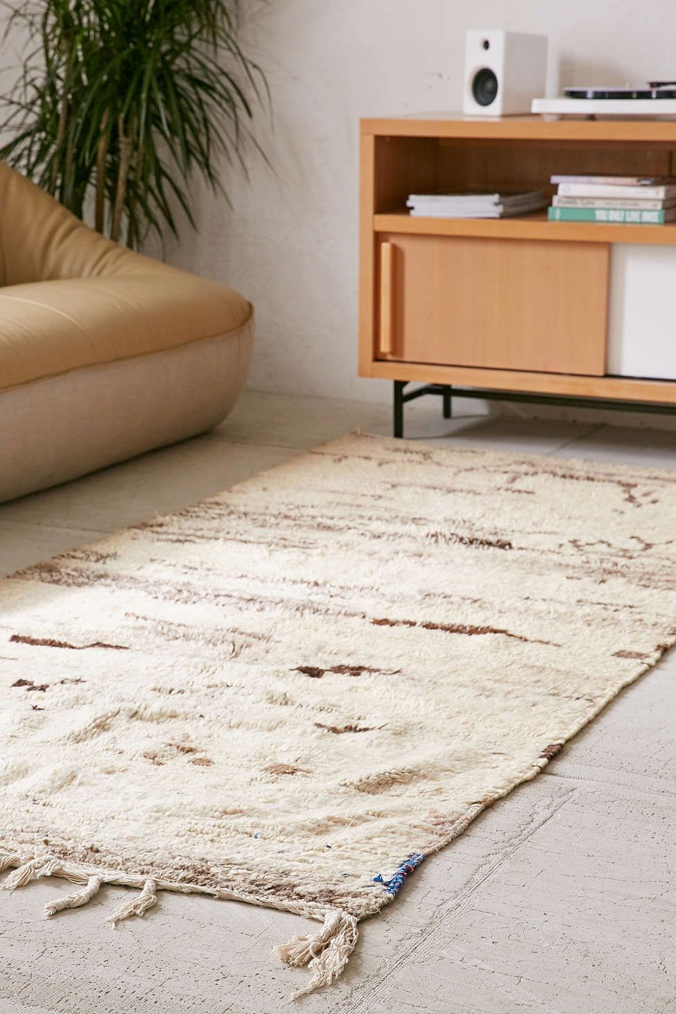 One-Of-A-Kind 4x8 Moroccan Tufted Boucherouite Shag Rug