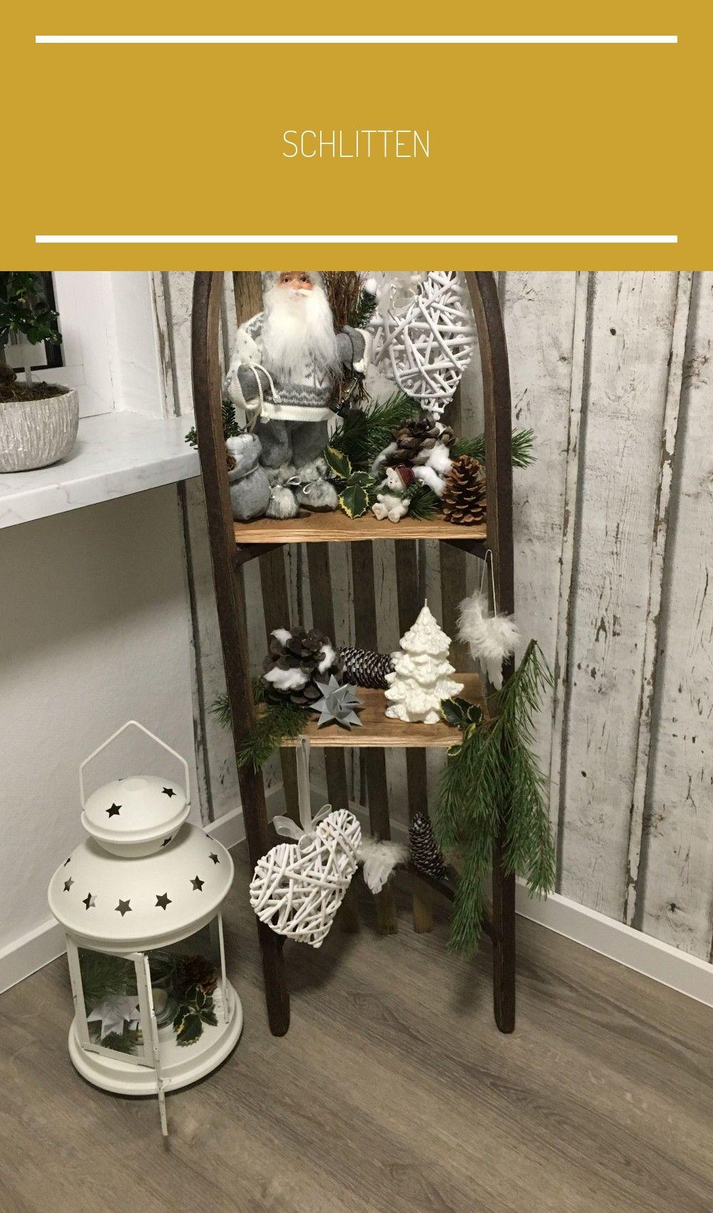 Schlitten #rustikale weihnachten tischdeko #rustikaleweihnachtentischdeko