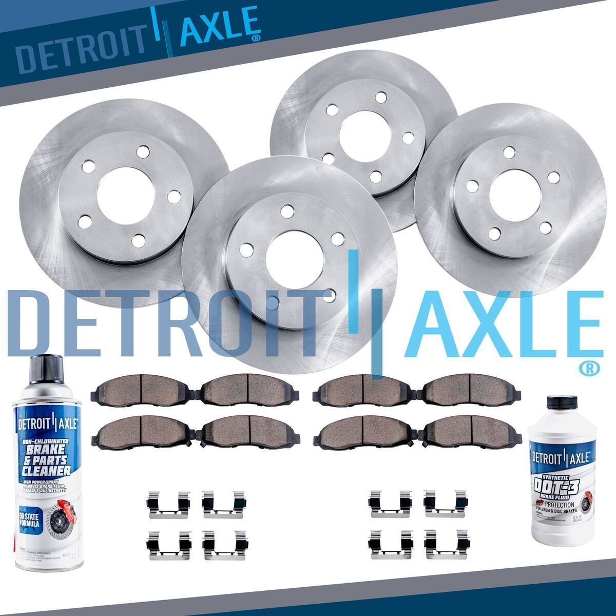 Awesome Great Front & Rear Rotors + Ceramic Pads For 2004