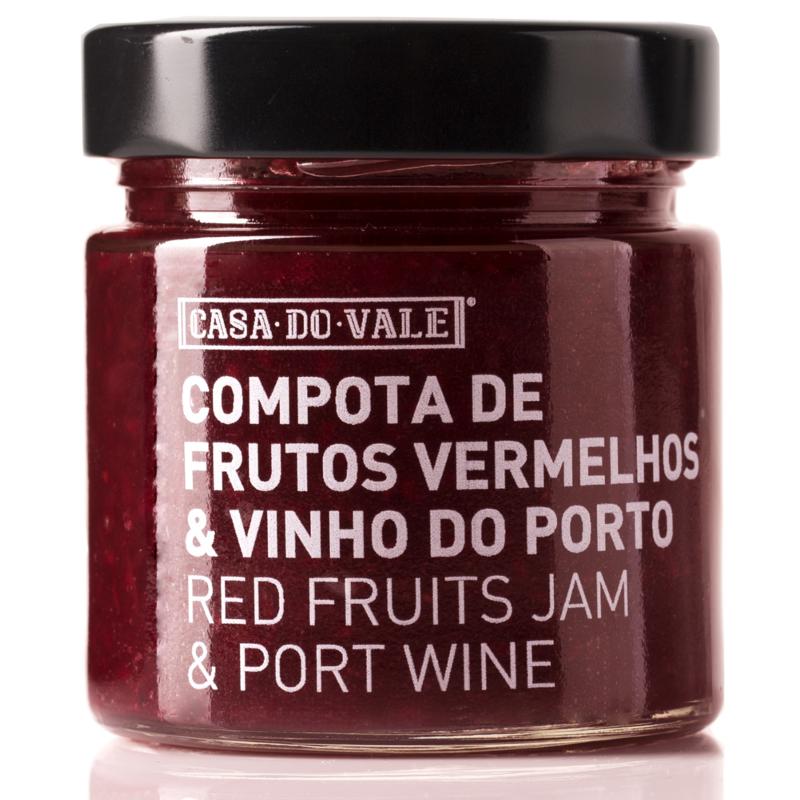 Compota de Frutos Vermelhos com Vinho do Porto