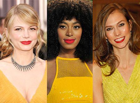 Makeup Ideas Red Lipstick Yellow Dress Red Lipsticks Yellow
