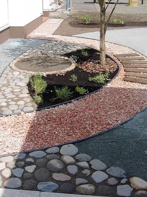 great usage of stones rocks and pebbles xeriscape front on extraordinary garden stone pathway ideas to copy id=18550