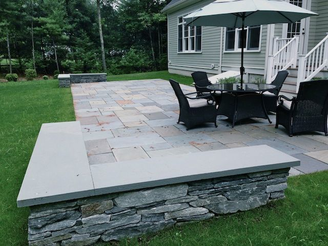 Rectangular granite patio patio pinterest patio for Rectangular garden design