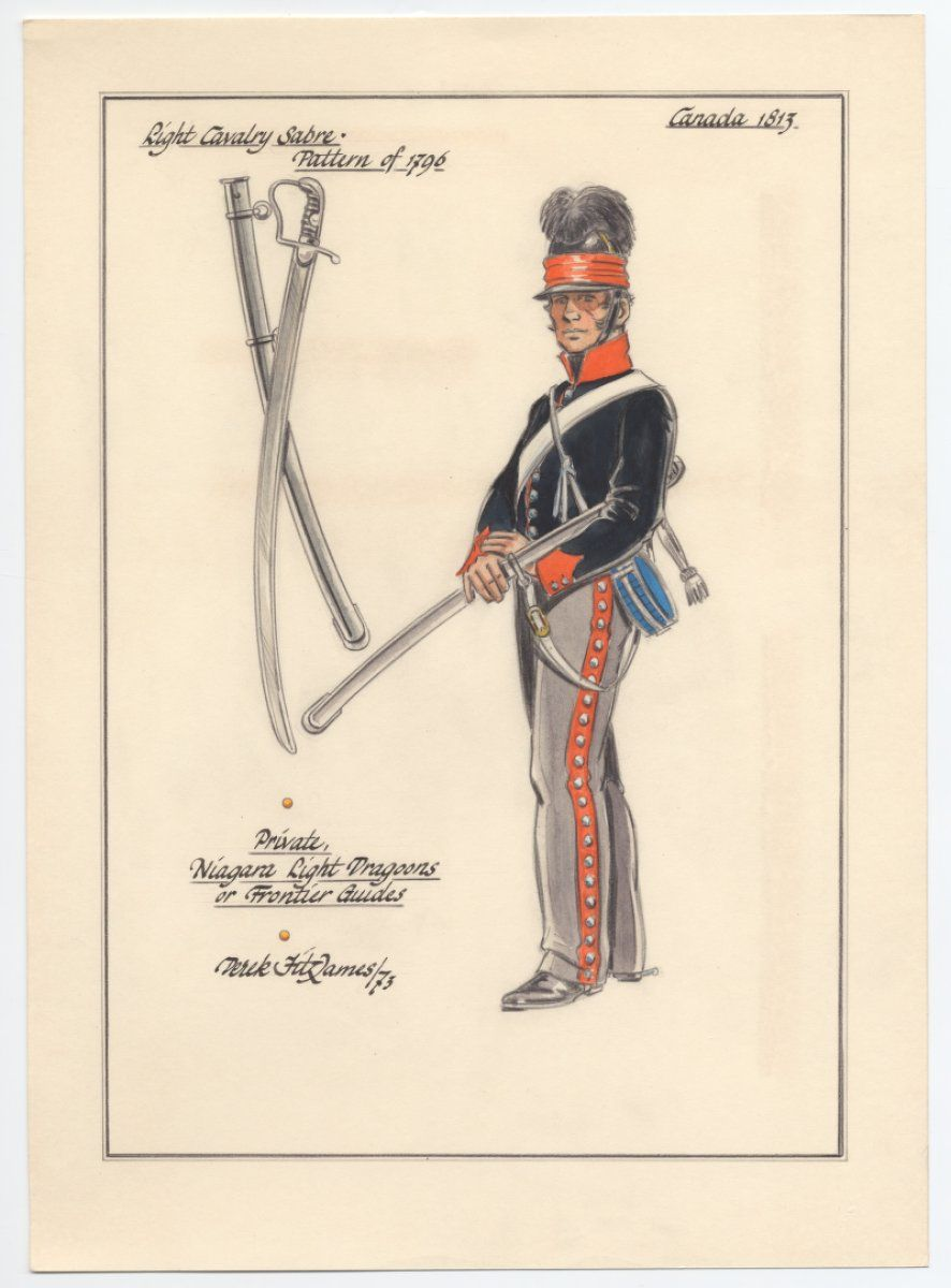 British Niagara Light Dragoons Or Frontier Guides Trooper Canada 1813 Military History British Army Military Uniform