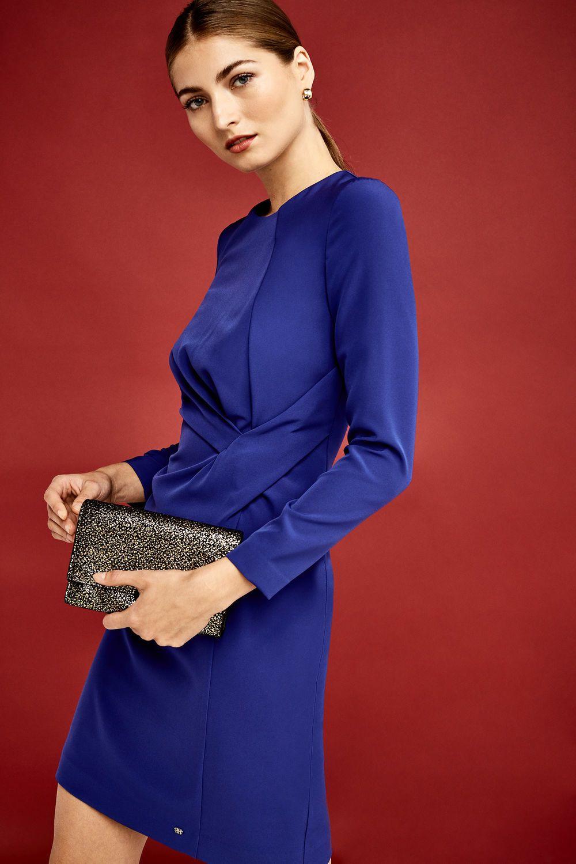 Pedro Del Hierro Vestido Ajustado Azul Vestidos De Mujer Ropa Online Mujer Ropa De Mujer