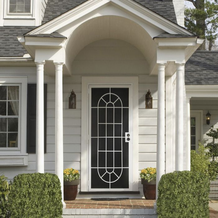 Storm doors come with varying combinations of screen and for Front door screen doors lowes
