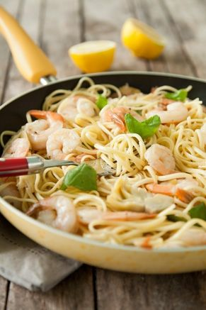 Shrimp Scampi with Artichokes and Basil from pauladeen.com