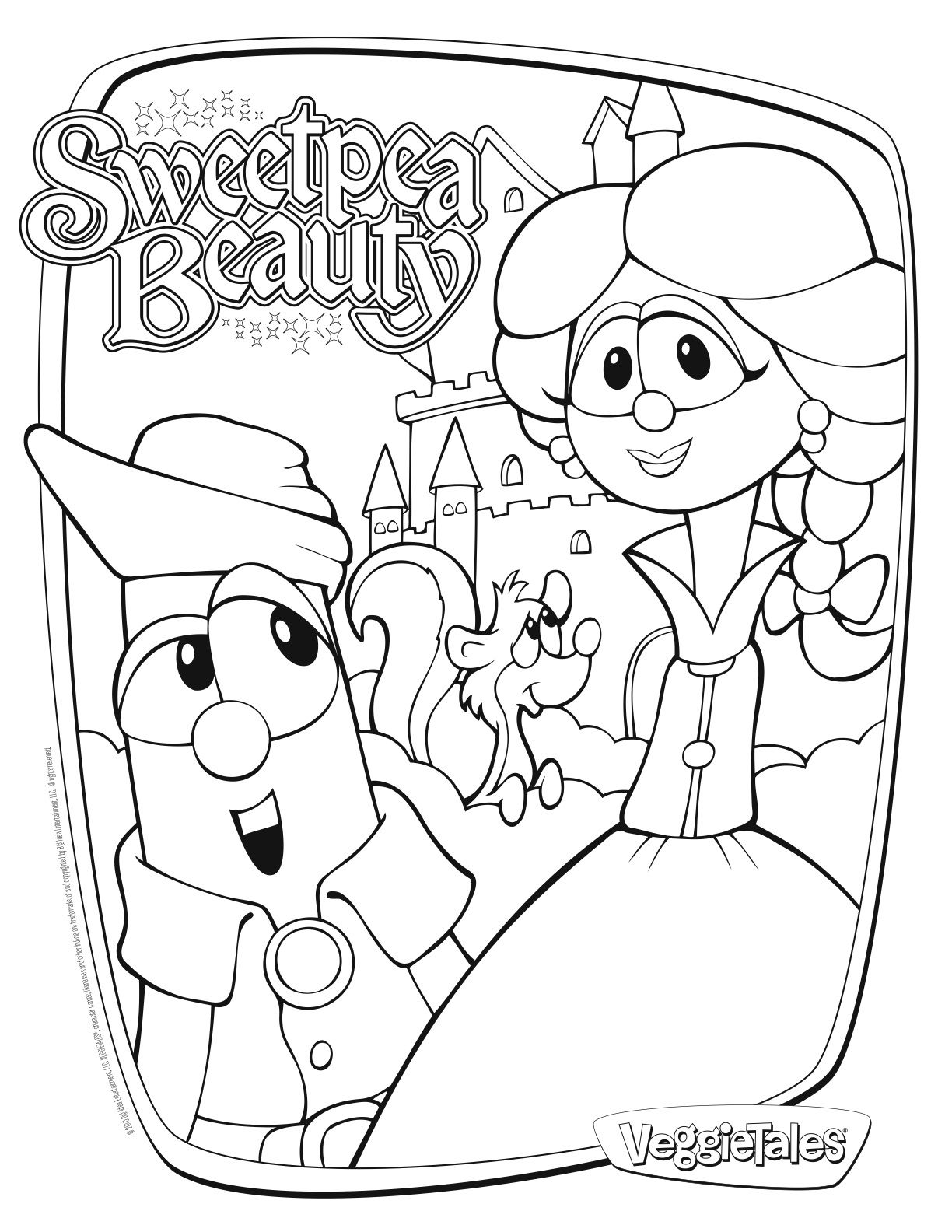 Tons Of Veggie Tales Coloring Pages Sweetpea Beauty Pirate