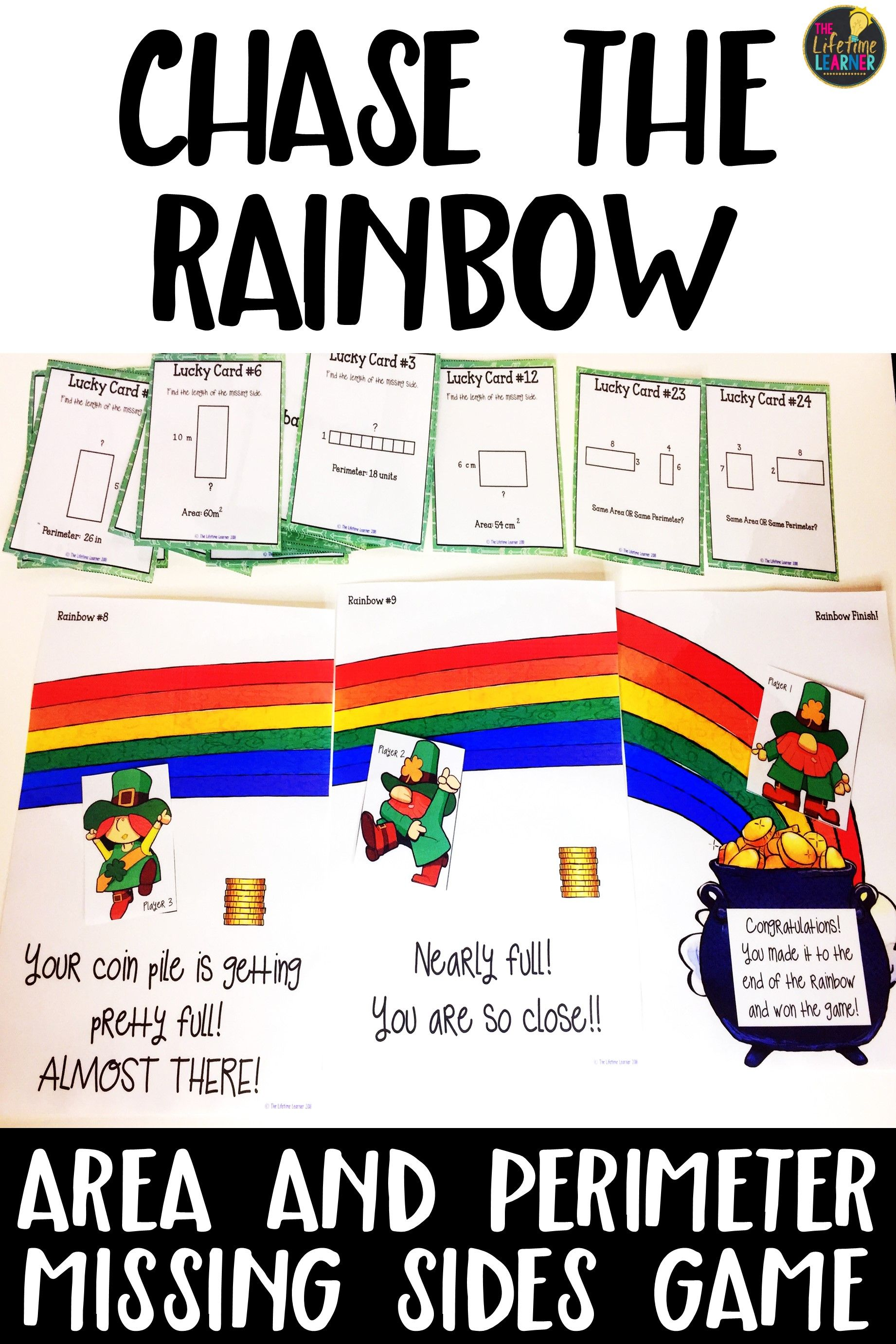 St Patrick S Day Area And Perimeter Game