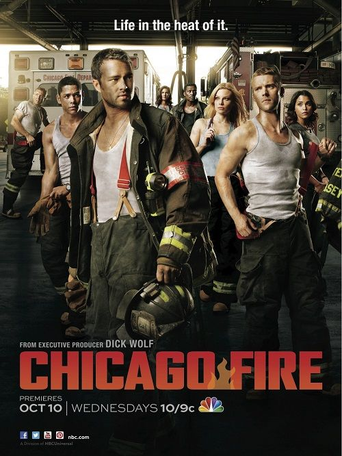 """Chicago Fire as the poster shows, there's plenty of """"reasons"""" to watch. ;) #OptikTV"""