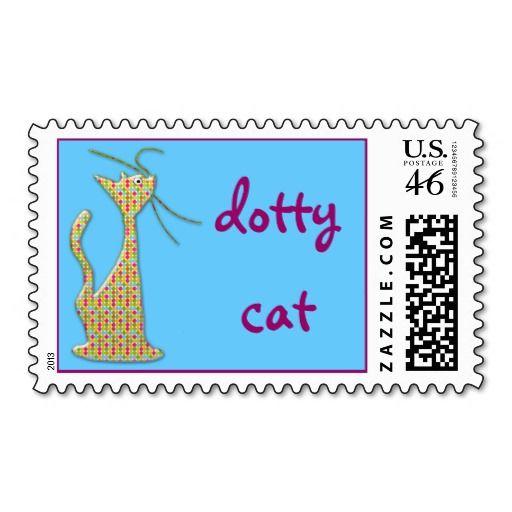 dotty cat postage stamp