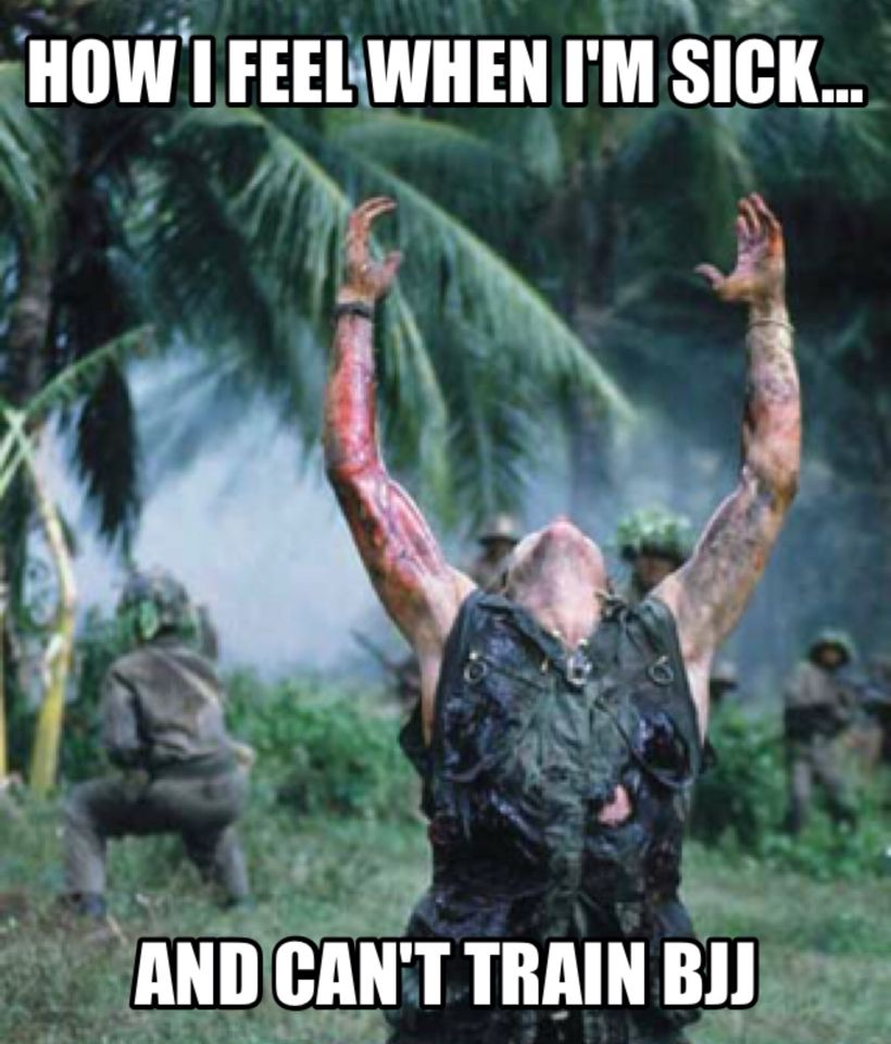 How I feel when I'm sick and can't train #bjj.