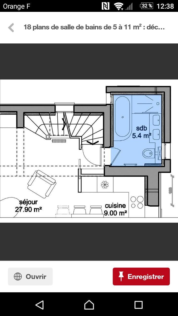 Sdb 5,4m2   Idées pour la salle de bains   Pinterest