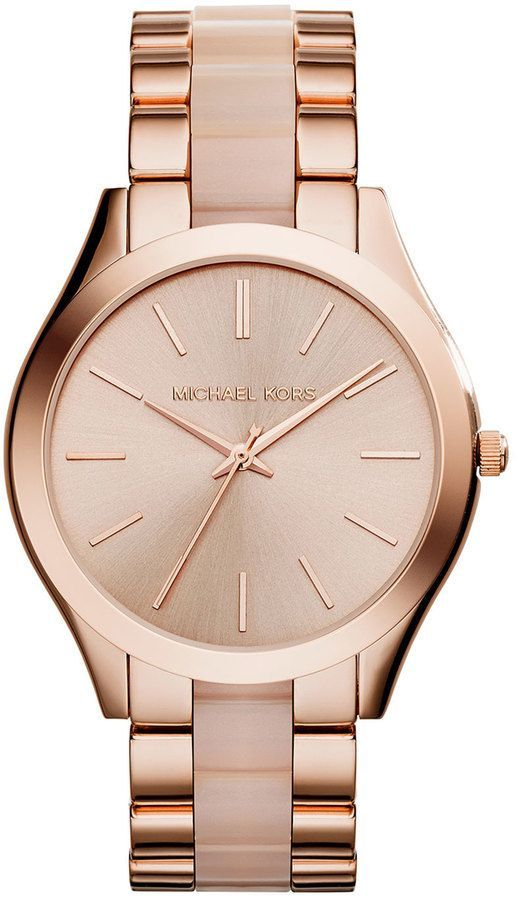 4cddb2ff8e5ab Michael Kors Rose Gold Watch   Watches   Pinterest   Relógios ...