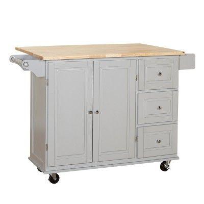 sundance kitchen cart - gray - buylateral | kitchen cart