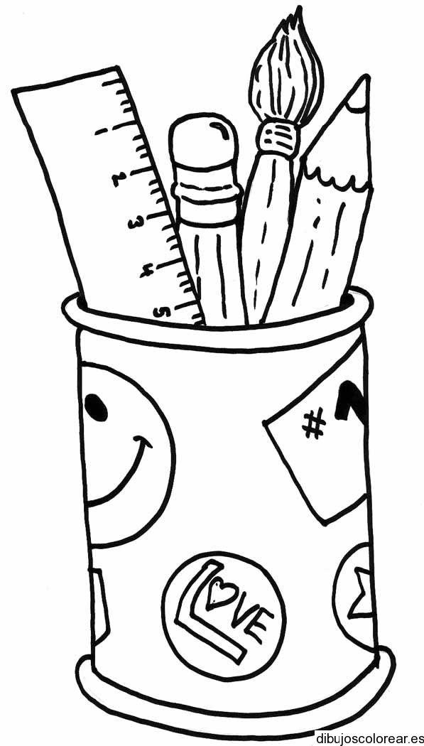 Utiles Escolares Para Colorear 5 Jpg1 Jpg 597 1050 Back To School Art Preschool Creative Art Cute Easy Drawings