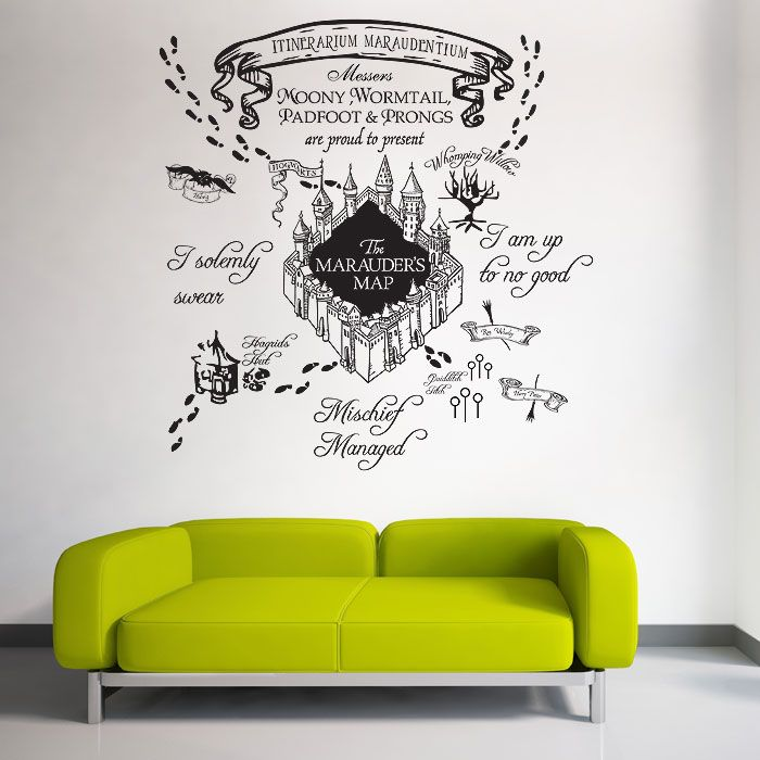 Image Result For Harry Potter Marauders Map Wall Decal Harry - Wall decals harry potter