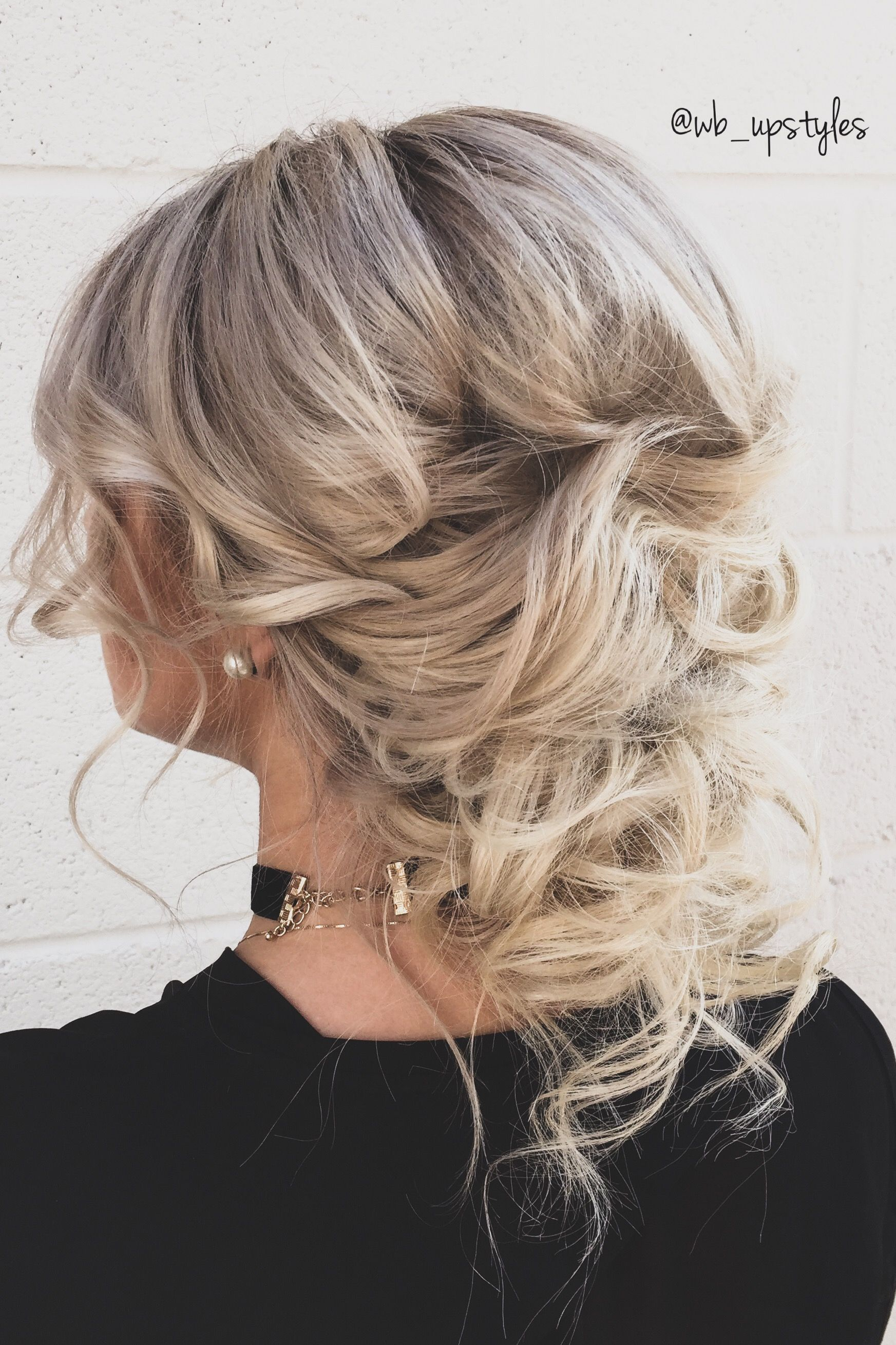 Bridal Hairstyle Low Loose And Chic Wedding Hairstyle Created By Whitney Located At Luxe Salon And Spa In L Wedding Hairstyles Bridal Hair Updo Hair Styles