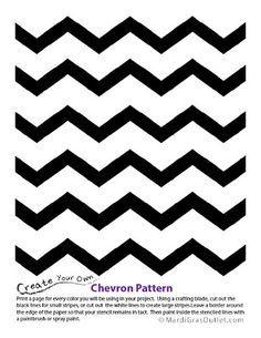 Chevron Pattern Stencil: Free Printable   To print   Chevron ...