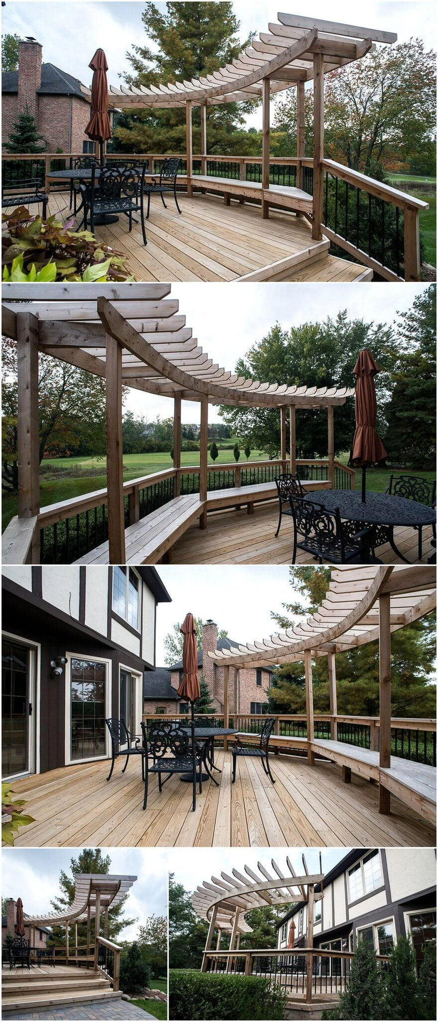 Sometime Pergola Deck Plan Is Only Installed For The Transformation Ordinary Looking Outdoor Patios This Curved Pergola D Curved Pergola Pergola Plans Pergola