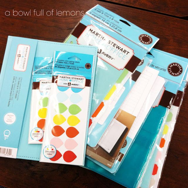Planner Organization…these Martha Stewart Products Are