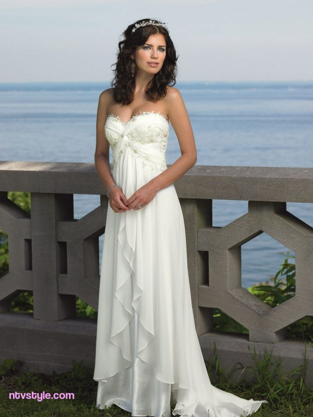 Perfect Beach Wedding Dresses http://www.ntvstyle.com/perfect-beach ...