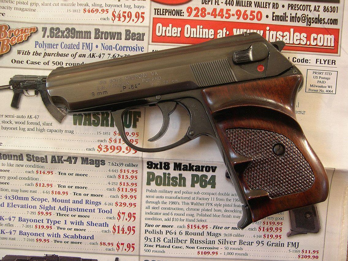 P-64 pistol (Poland) Type: Double Action Calibers: 9x18 Makarov
