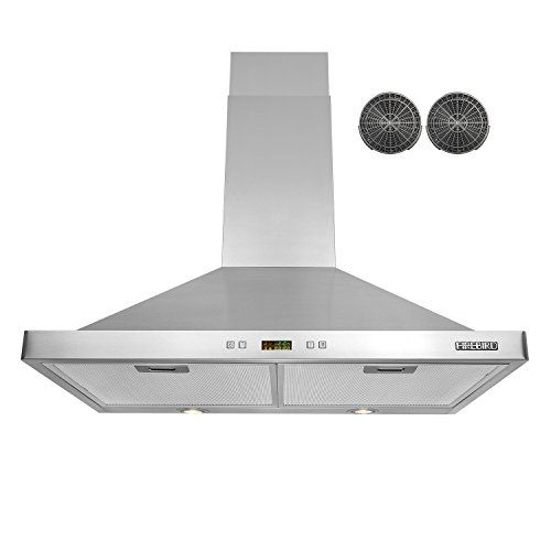 Amazon Com Firebird 30 Wall Mounted Stainless Steel Range Hood With Charcoal Filters Carbon Filters I Stainless Steel Range Hood Range Hood Charcoal Filter