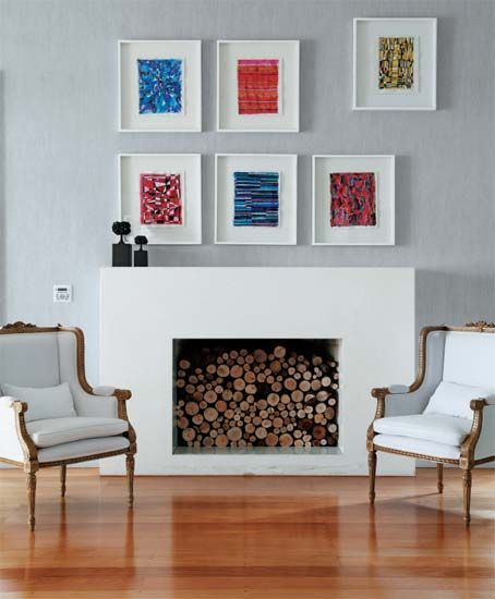 Lovely Clever Idea For A Fireplace Which Is No Longer In Use.