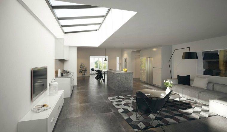 Diseño cocinas abiertas al salón prácticas y funcionales | Salón ...
