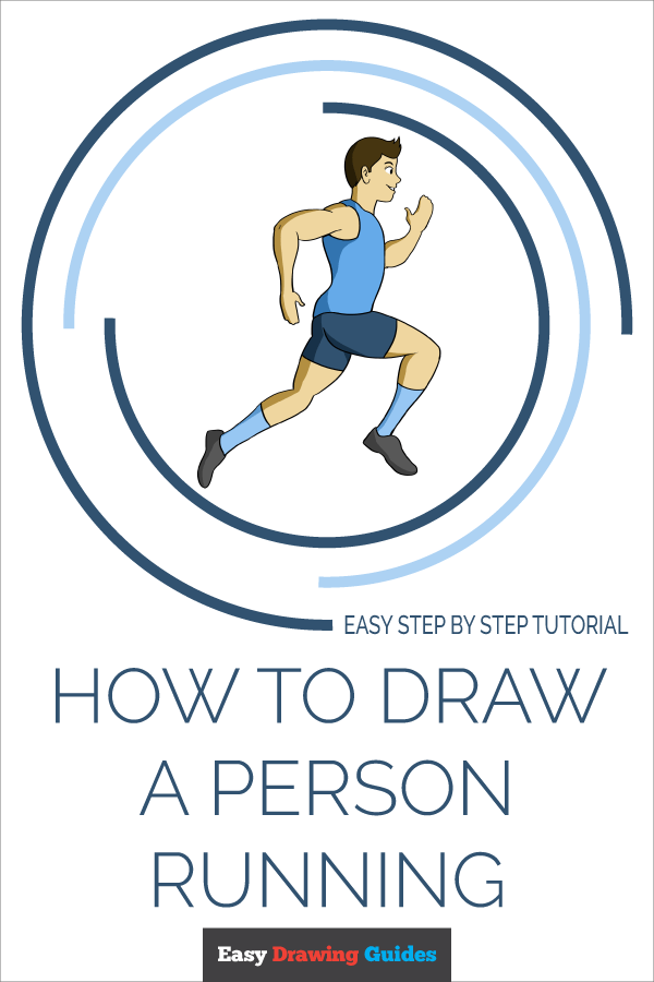 How To Draw A Person Running Really Easy Drawing Tutorial In 2020 Easy Drawings Person Running Drawing Tutorial Easy