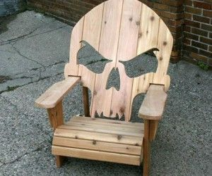 Geeky Products And Gifts Shut Up And Take My Money Outdoor Chairs Skull Furniture Woodworking Outdoor Furniture