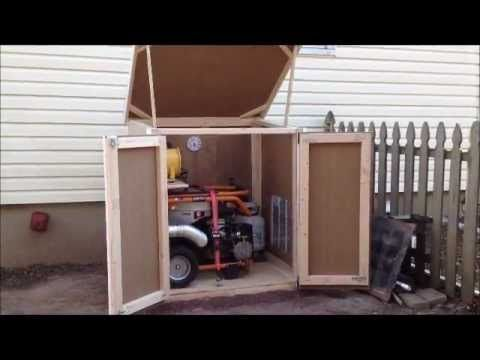 Outdoor enclosure for portable generator  Prepping  In