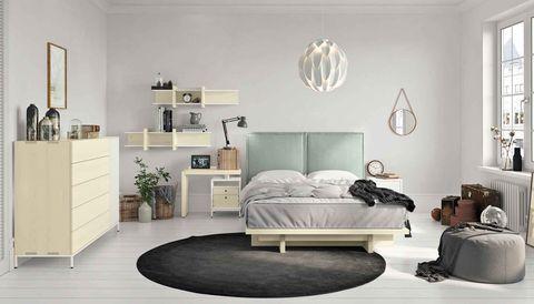 Now! Spin Schlafzimmer in europäischen Ahorn + blaugrünes ...