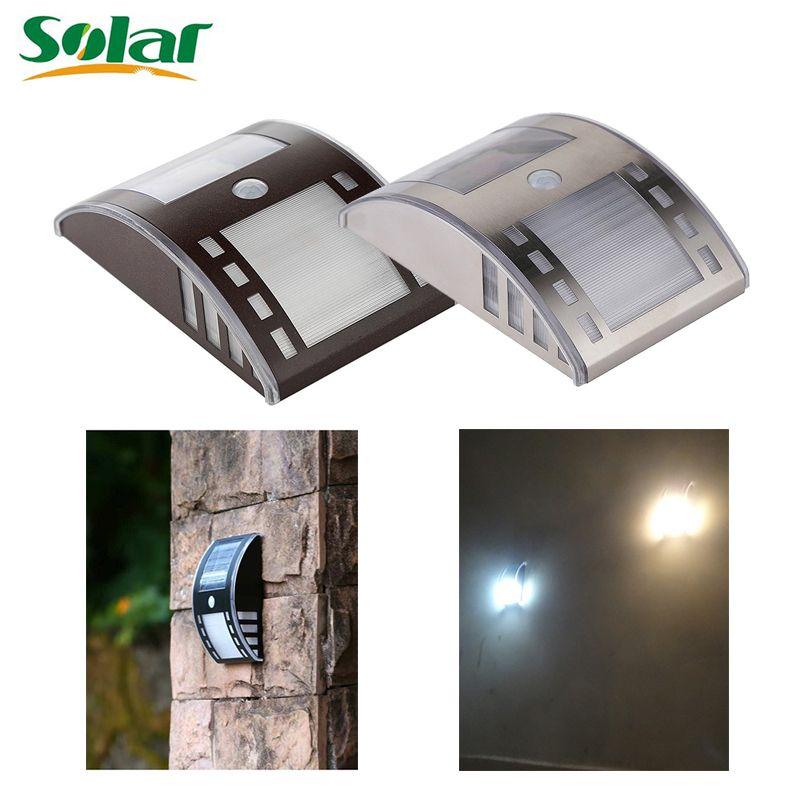 Neueste solarlicht edelstahl motion sensor lichter led pir straße ...